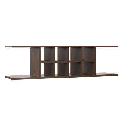Shaker Ready to Assemble 48x13.37x11.25 in. Wall Flex Shelving in Brindle