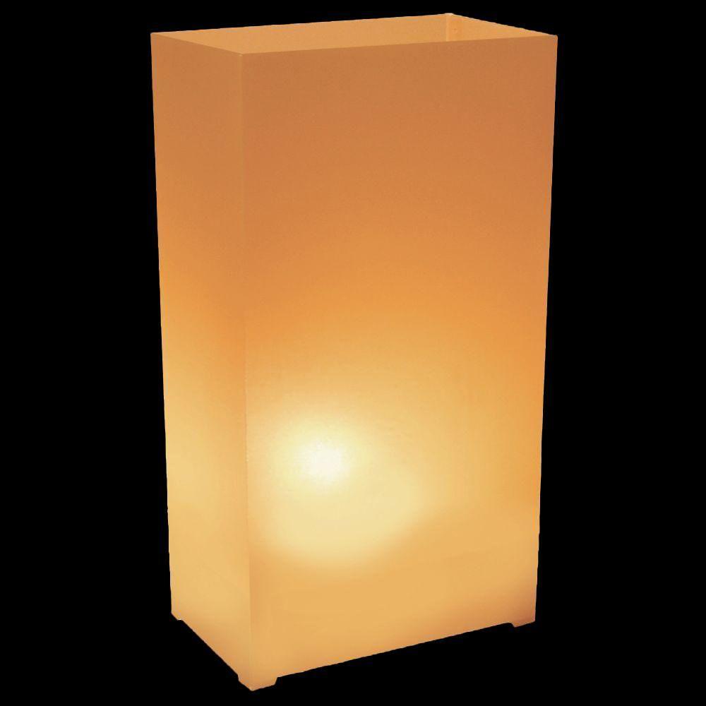 Plastic Luminaria Lanterns in Tan (Set of 12)