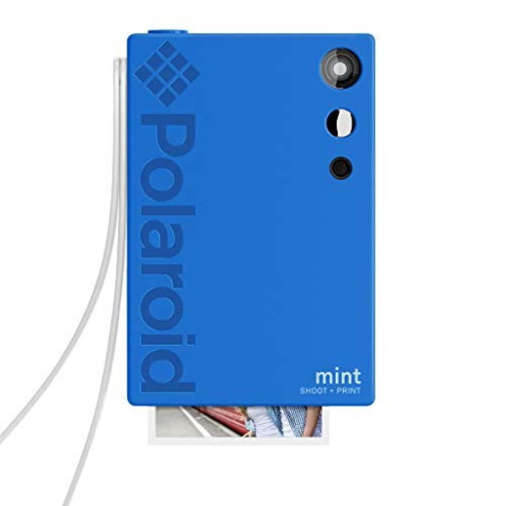 Mint Instant Print Digital Camera (Blue), Prints on Zink 2x3 Sticky-Backed Photo Paper