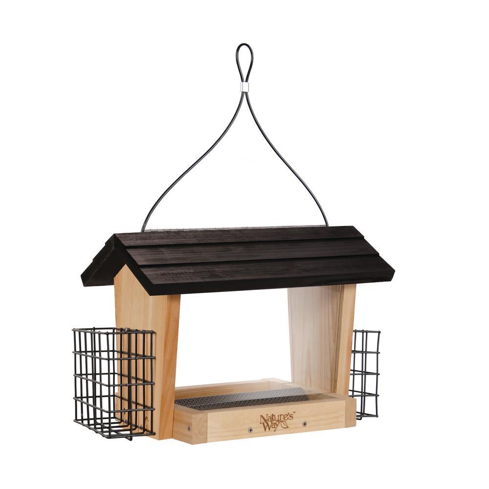 6 Qt. Cedar Hopper Bird Feeder with Suet