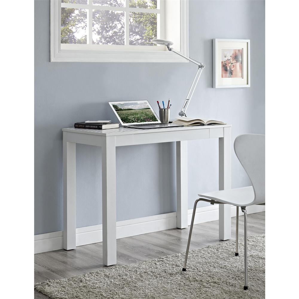 Ameriwood Home Nelson White and Teal Computer Desk with ...