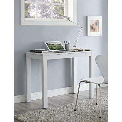Delilah White and Gray Desk with Storage