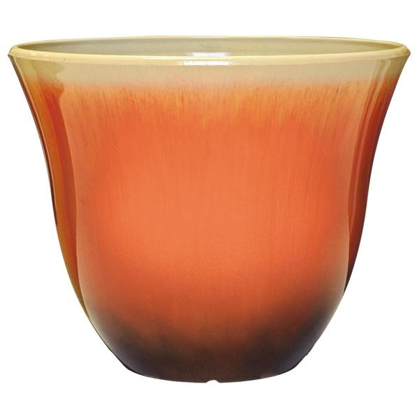 Classic Home Garden Honeysuckle 15 In Tequila Sunrise Resin Planter 553 245r The Home Depot