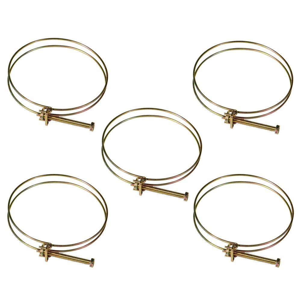 4 in. Wire Hose Clamp (5-Pack)