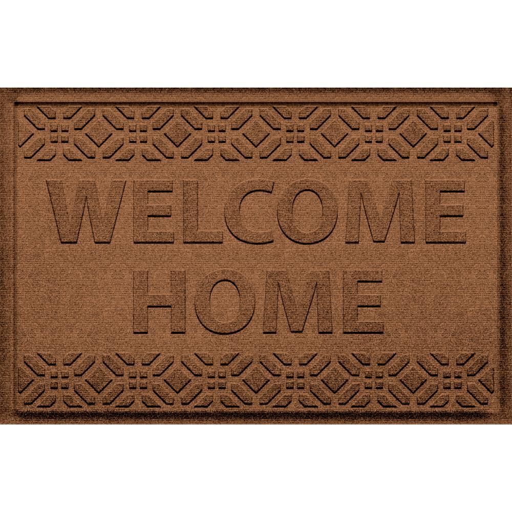 Incroyable Aqua Shield Welcome Home Dark Brown 24 In. X 36 In. Polypropylene Door Mat