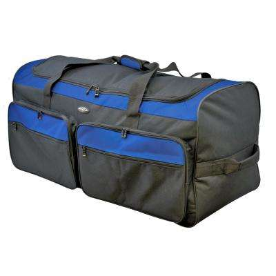 Space Saver 36 in. Collapsible Rolling Duffel with 3 Blade Wheels (Blue)
