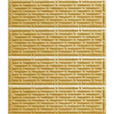 Yellow 8.5 in. x 30 in. Mesh Stair Tread (Set of 4)