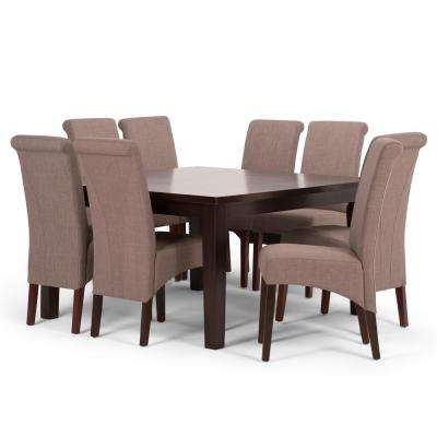 Avalon 9 Piece Light Mocha Dining Set