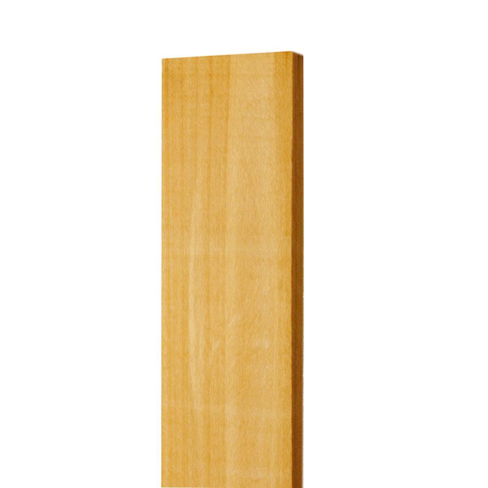 1 in. x 4 in. x 3-1/2 ft. Western Red Cedar Flat Top Fence Picket (13-Pack)