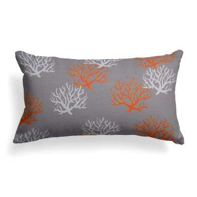 Reef Grey Lumbar Outdoor Throw Pillow