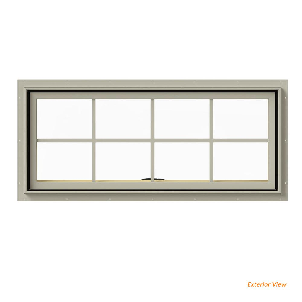JELD-WEN 48 in. x 20 in. W-2500 Series Desert Sand Painted ...
