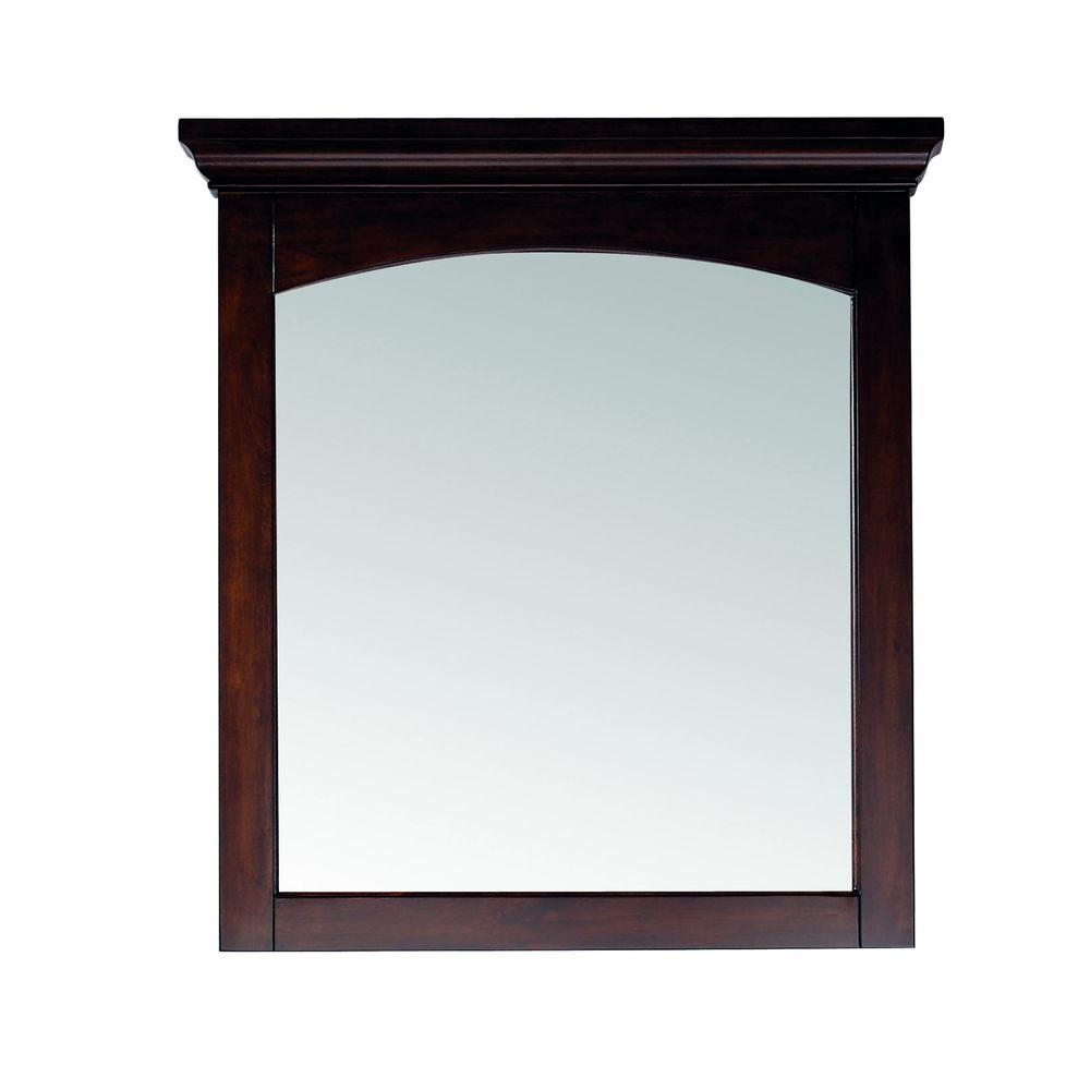 Pegasus Vermont 30 in. W x 32 in. H Birch Mahogany Framed Wall Mirror