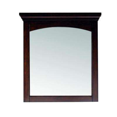 Vermont 30 in. W x 32 in. H Birch Mahogany Framed Wall Mirror