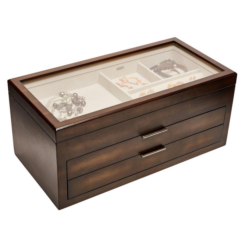 Nova Mocha Wooden Jewelry Box