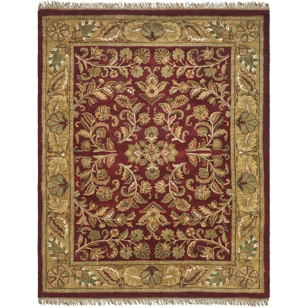 Large Area Rugs Gold: Safavieh Heritage Red/Gold 8 Ft. 3 In. X 11 Ft. Area Rug