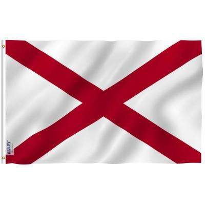 Fly Breeze 3 ft. x 5 ft. Polyester Alabama State 2-Sided Banner Flag with Brass Grommets and Canvas Header