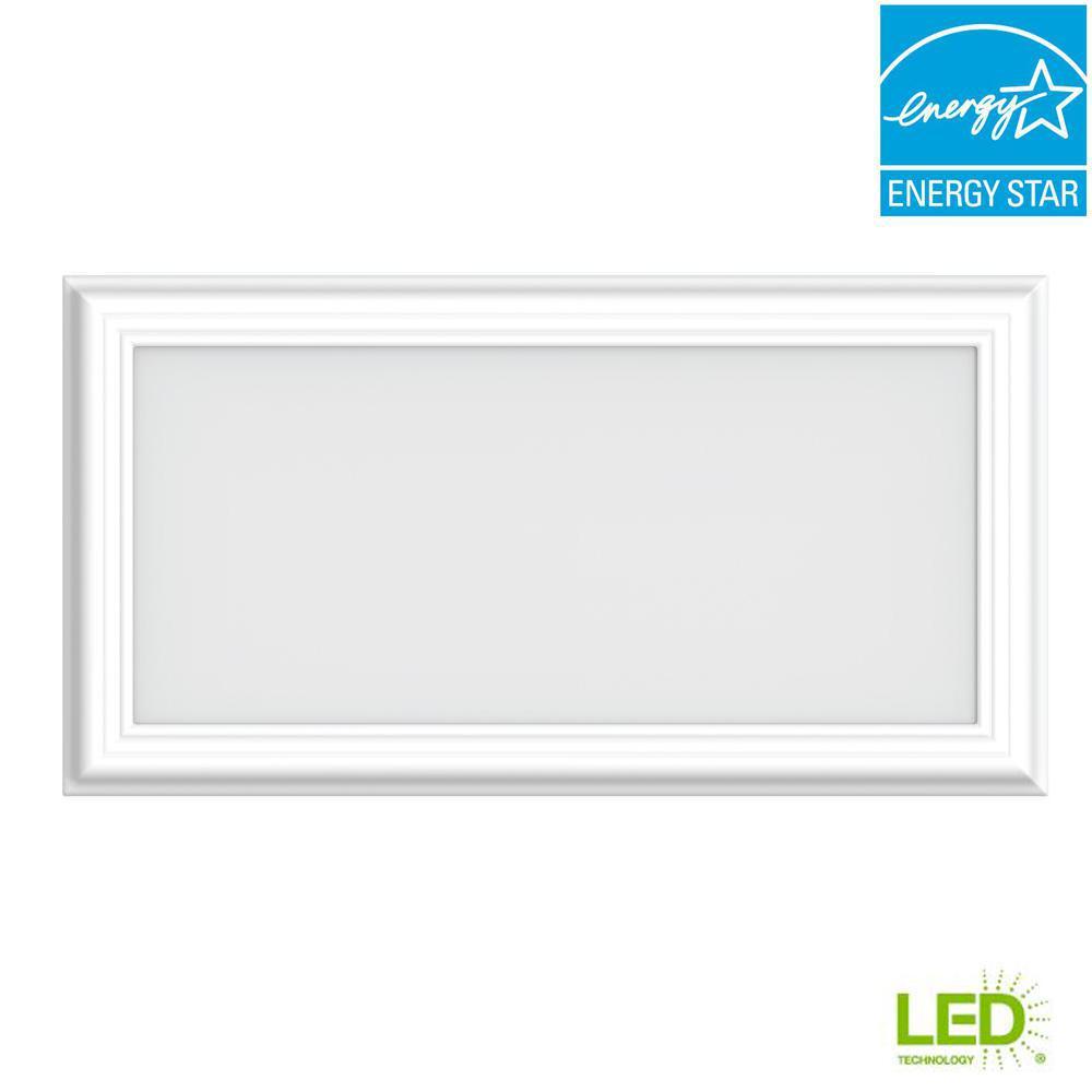 1 ft. x 2 ft. 24-Watt Dimmable White Integrated LED Edge-Lit