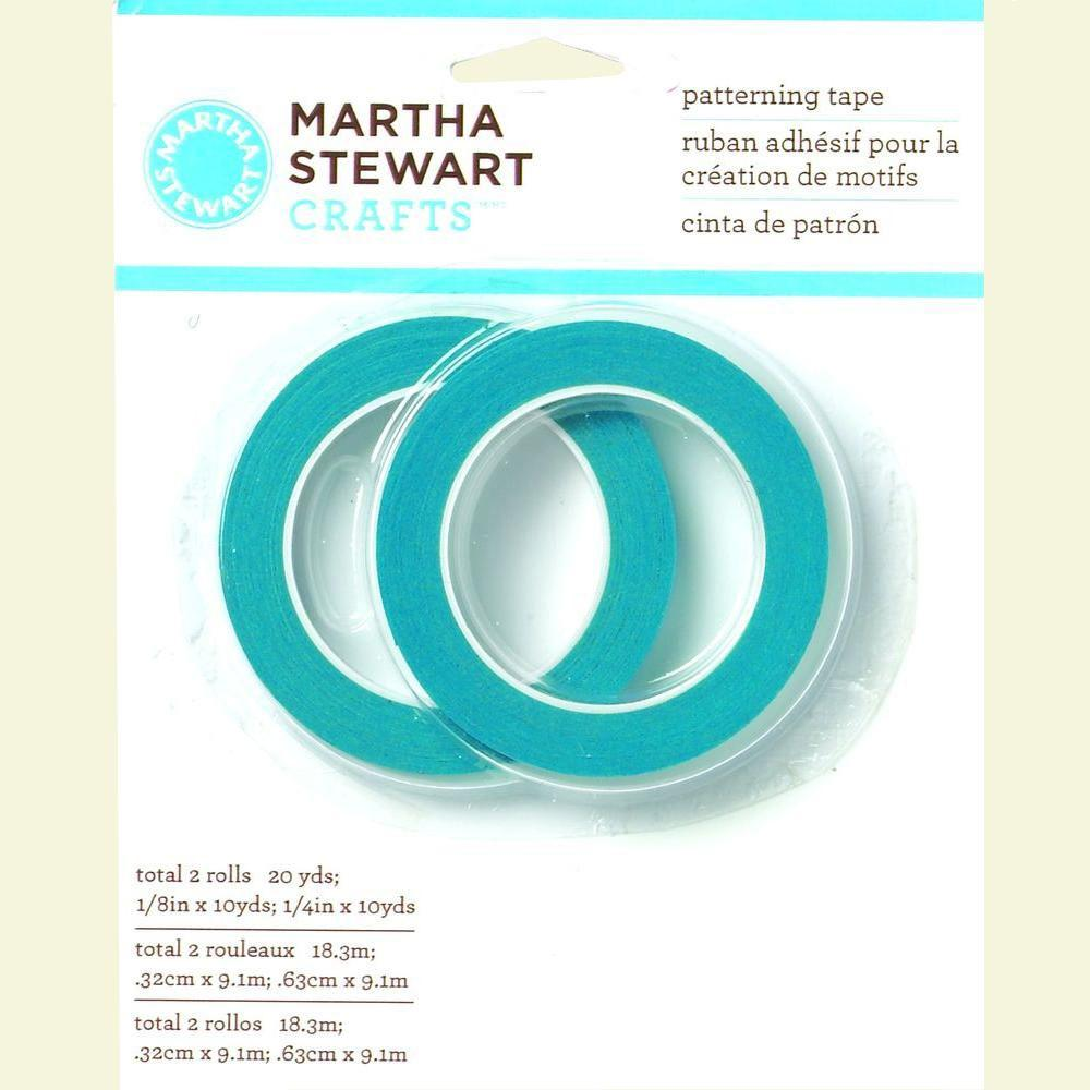 Martha Stewart Crafts 1/8 in. x 10 yds. and 1/4 in. x 10 yds. Patterning Tape (2-Pack)