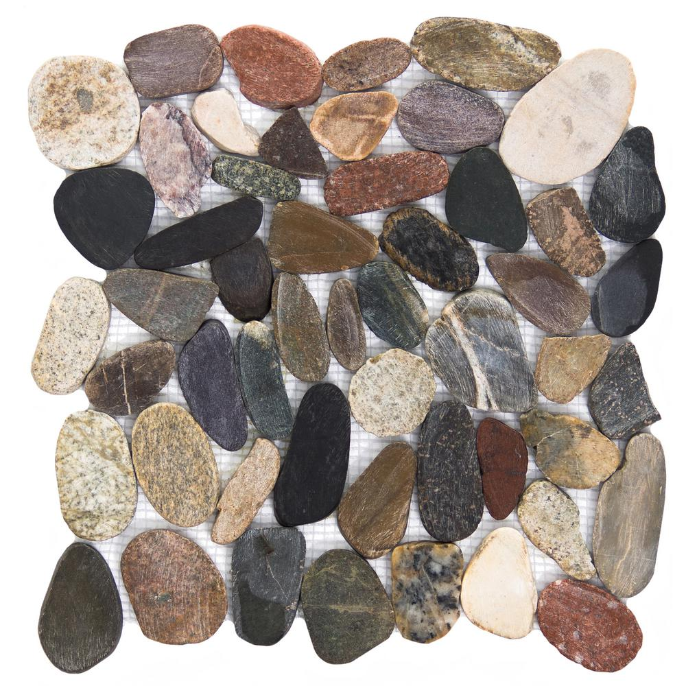 Rivera Pebbles Natural Honed 12.01 in. x 12.01 in. x 11