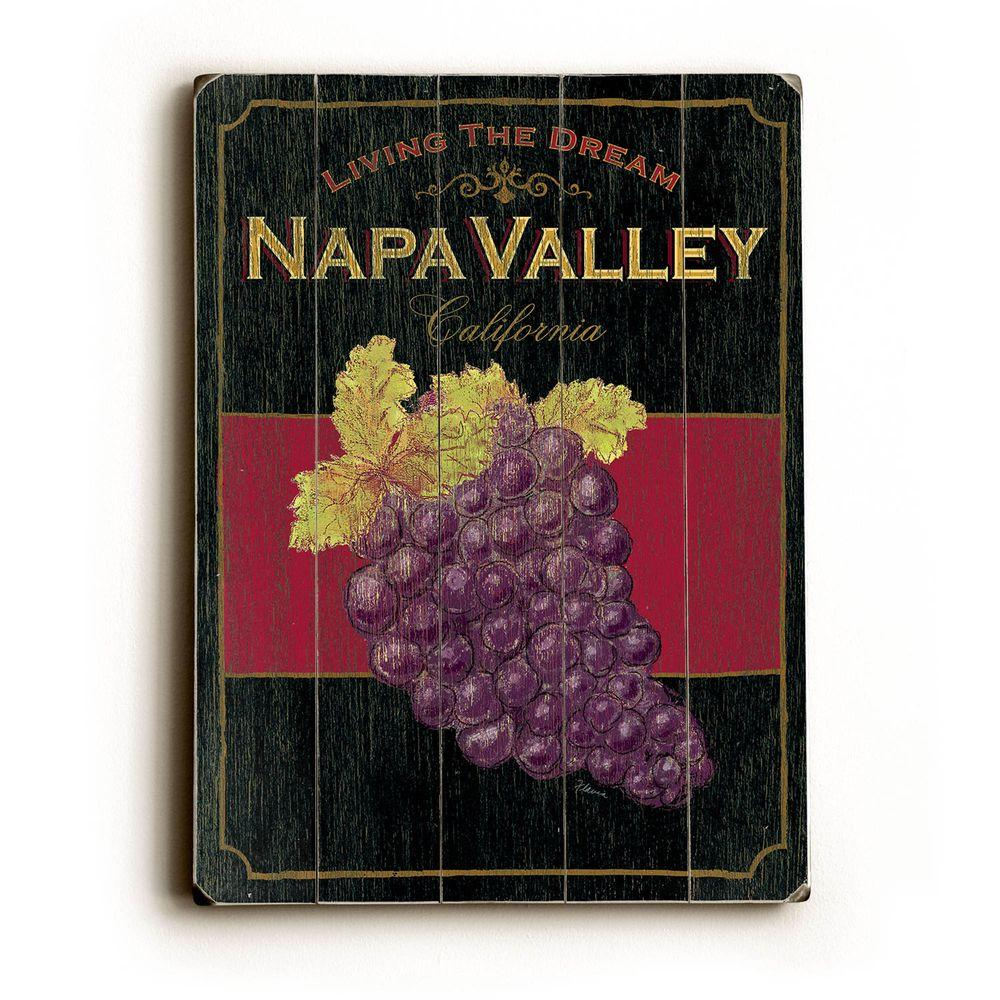 ArteHouse 9 in. x 12 in. Napa Valley Wine Vintage Wood Sign-DISCONTINUED