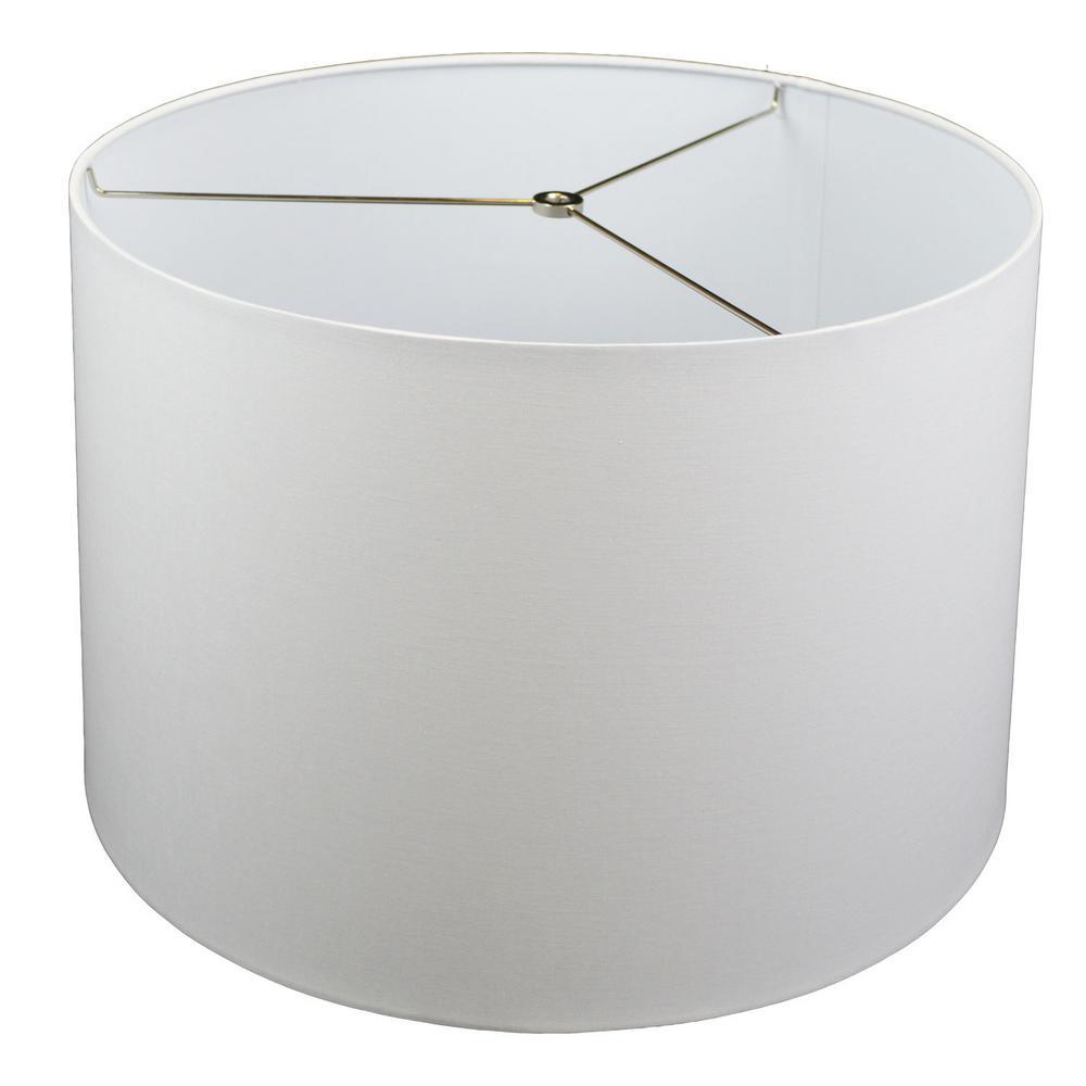 Fenchel Shades 18 in. Top Diameter x 19 in. Bottom Diameter x 12.5 in. Slant,  Empire Lamp Shade - Linen White