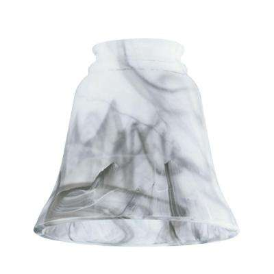 4-1/2 in. Licorice Marbleized Bell with 2-1/4 in. Fitter and 4-3/4 in. Width