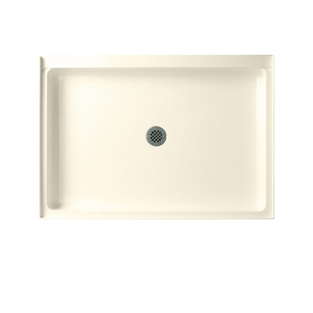 Swan 34 in. x 42 in. Solid Surface Single Threshold Shower Floor in Bone