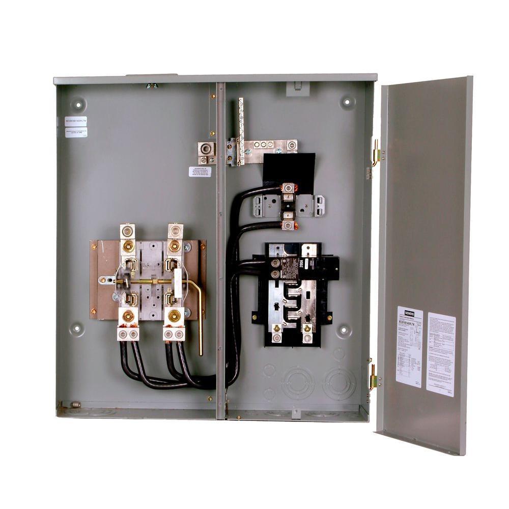 Siemens 400 Amp 8 Space 16 Circuit Combination Meter