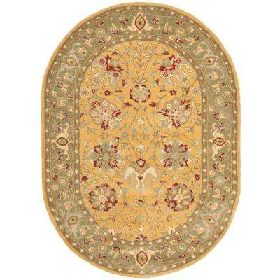 Antiquity Gold 8 ft. x 10 ft. Oval Area Rug