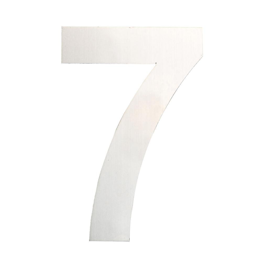 QT Home Decor 6 in Brushed Stainless Steel Floating Modern Number
