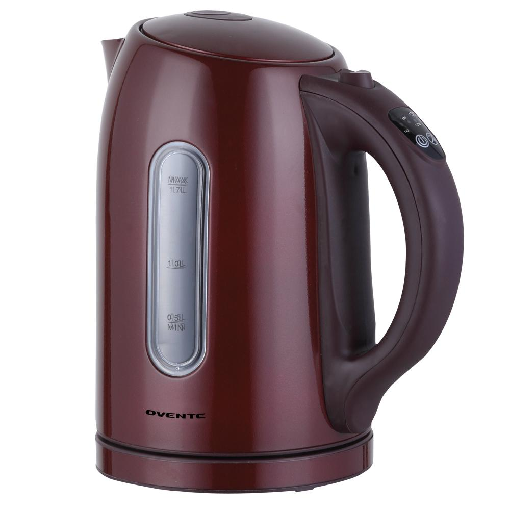 6.5-Cup Temperature control Cordless Brown Stainless Electric Kettle