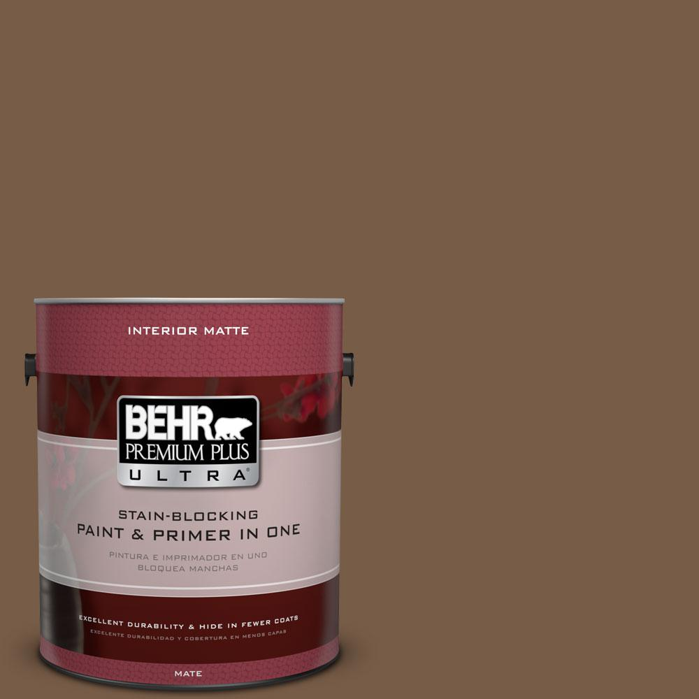 1 gal. #N250-7 Mission Brown Matte Interior Paint