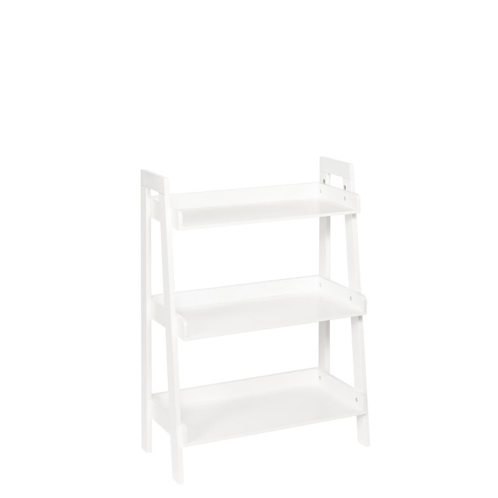 Preferred RiverRidge Kids 24 in. x 11.50 in. 3-Tier Ladder Shelf in White-02  UW81