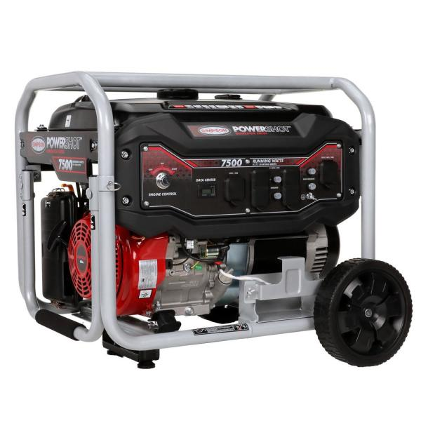 Simpson 7,500-Watt Gasoline Powered Electric Start Portable Generator