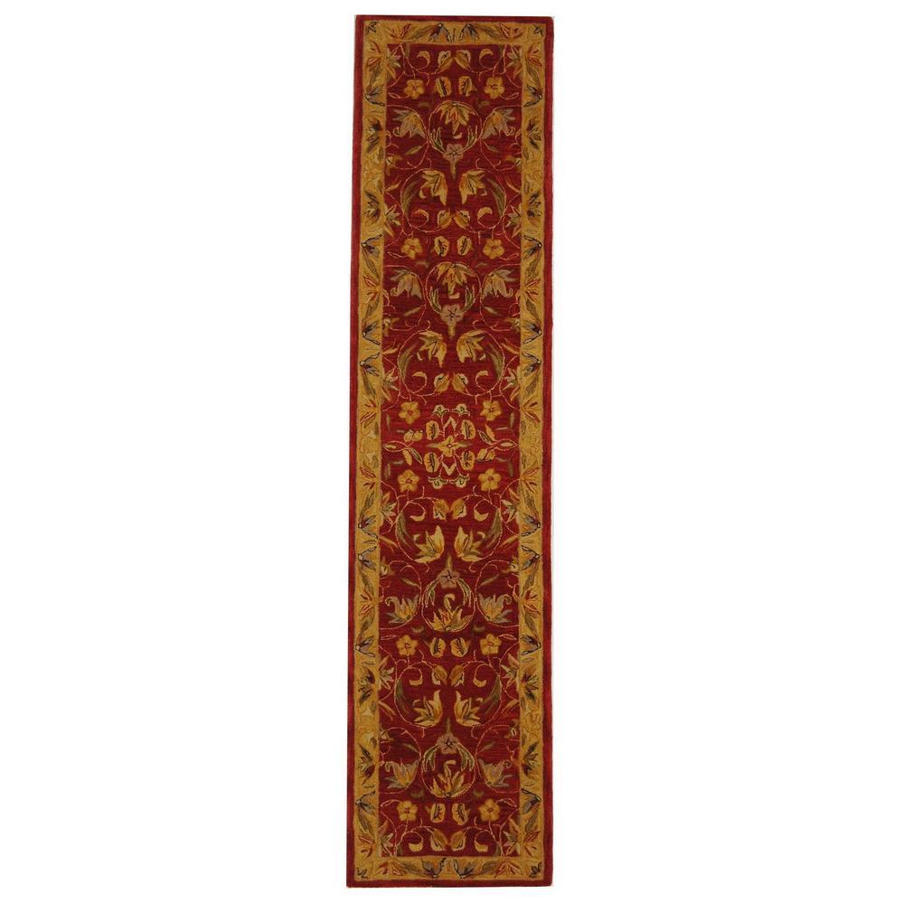 Anatolia Burgundy/Gold 2 ft. x 10 ft. Runner Rug