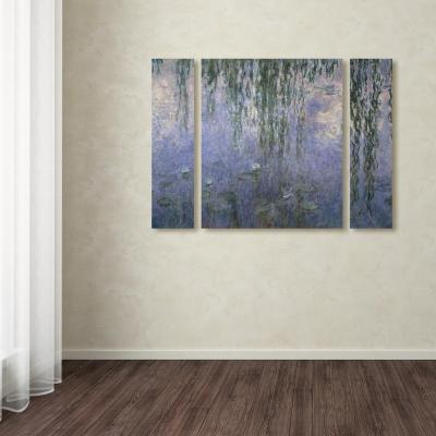 """30 in. x 41 in. """"Water Lilies III 1840-1926"""" by Claude Monet Printed Canvas Wall Art"""