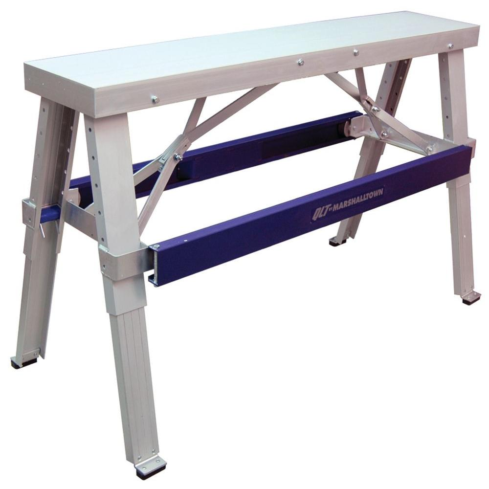 Marshalltown 48 in. Wide Adjustable Folding Aluminum Drywall Bench