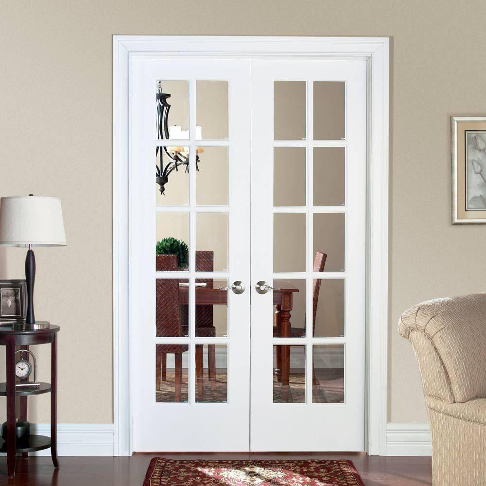Masonite 48 In X 80 10 Lite Primed Smooth Pine Prehung Interior French Door