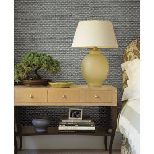 Click here to buy Brewster Isaac Black Woven Texture Wallpaper by Brewster.
