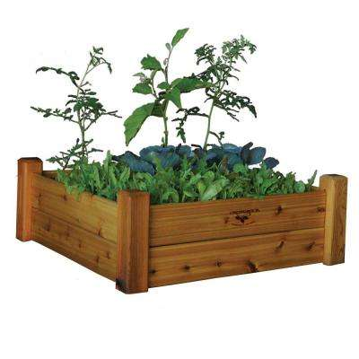34 in. x 34 in. x 13 in. Safe Finish Raised Garden Bed