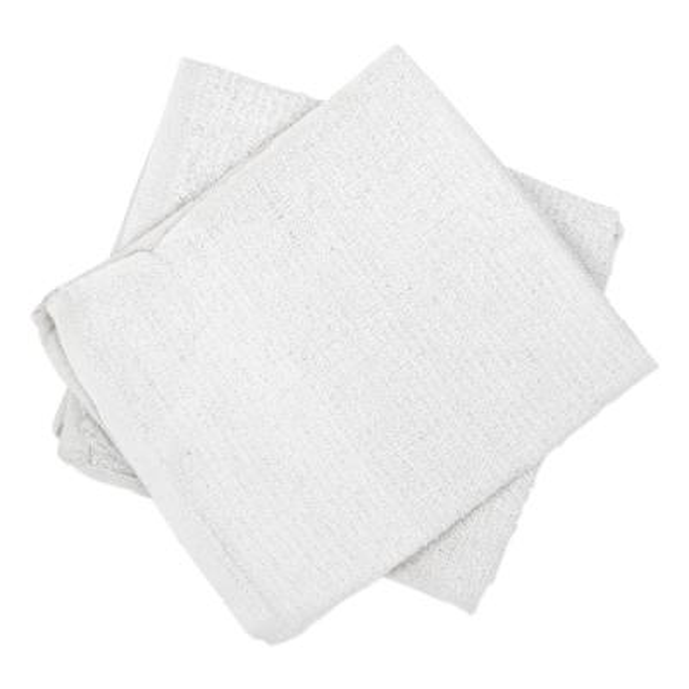 Counter Cleaning Cloth/Bar Mop, White, Cotton, (60/Carton)