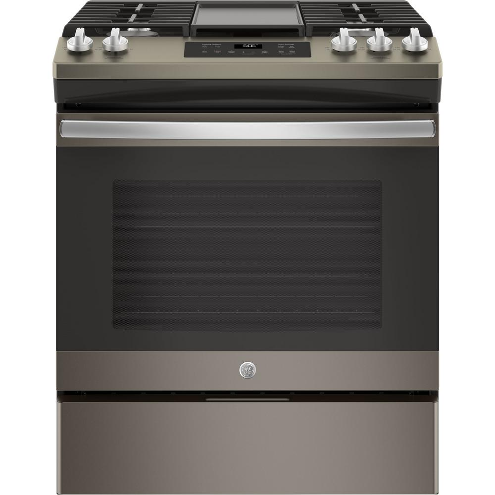 GE 5.0 cu. ft. Slide-In Gas Range with Steam Clean Oven i...