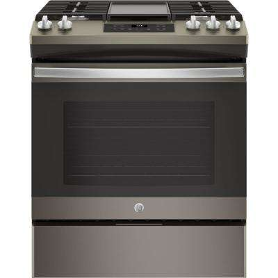 5.0 cu. ft. Slide-In Gas Range with Steam Clean Oven in Slate