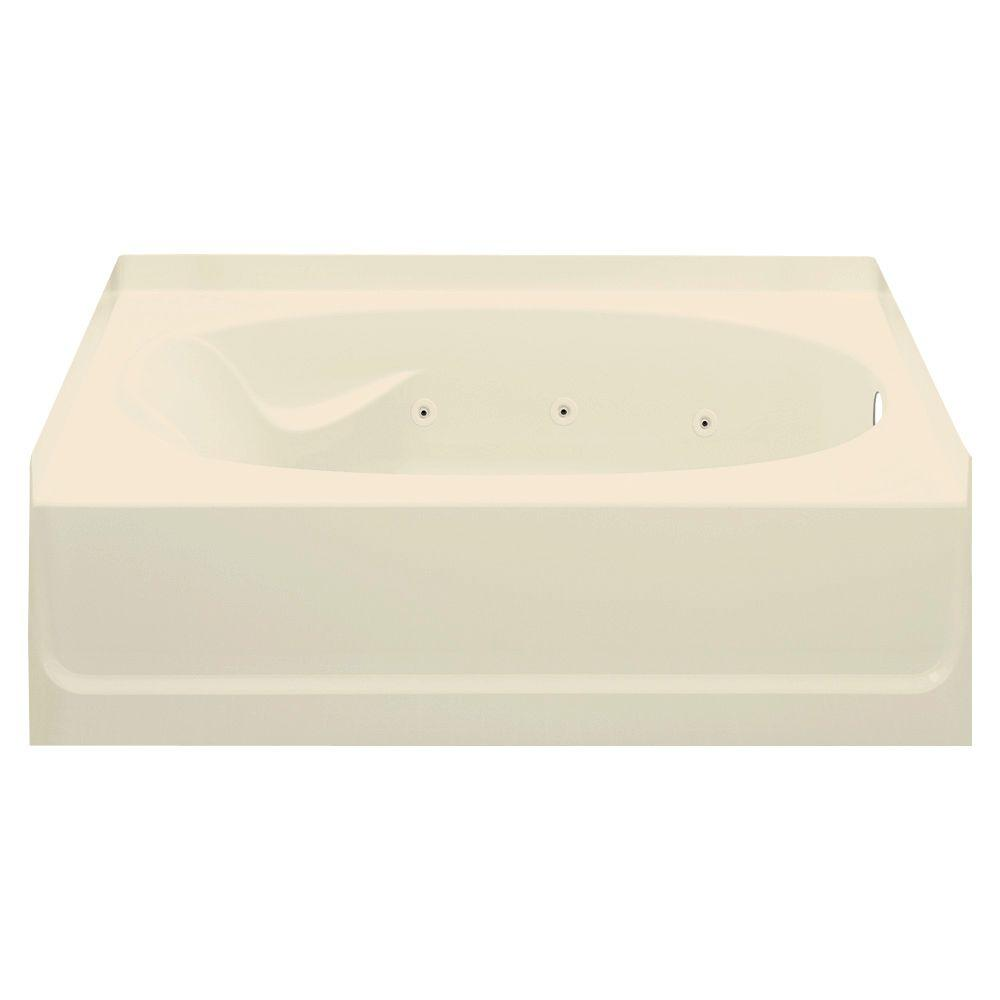 STERLING Ensemble 5 ft. Whirlpool Tub in Almond