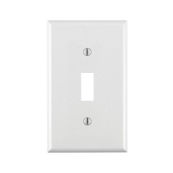 2 Pack Device Mount Thermoplastic Nylon White Leviton 80701 W 1 Gang Toggle Device Switch Wallplate Standard Size Wall Plates Accessories Saidli Wall Plates