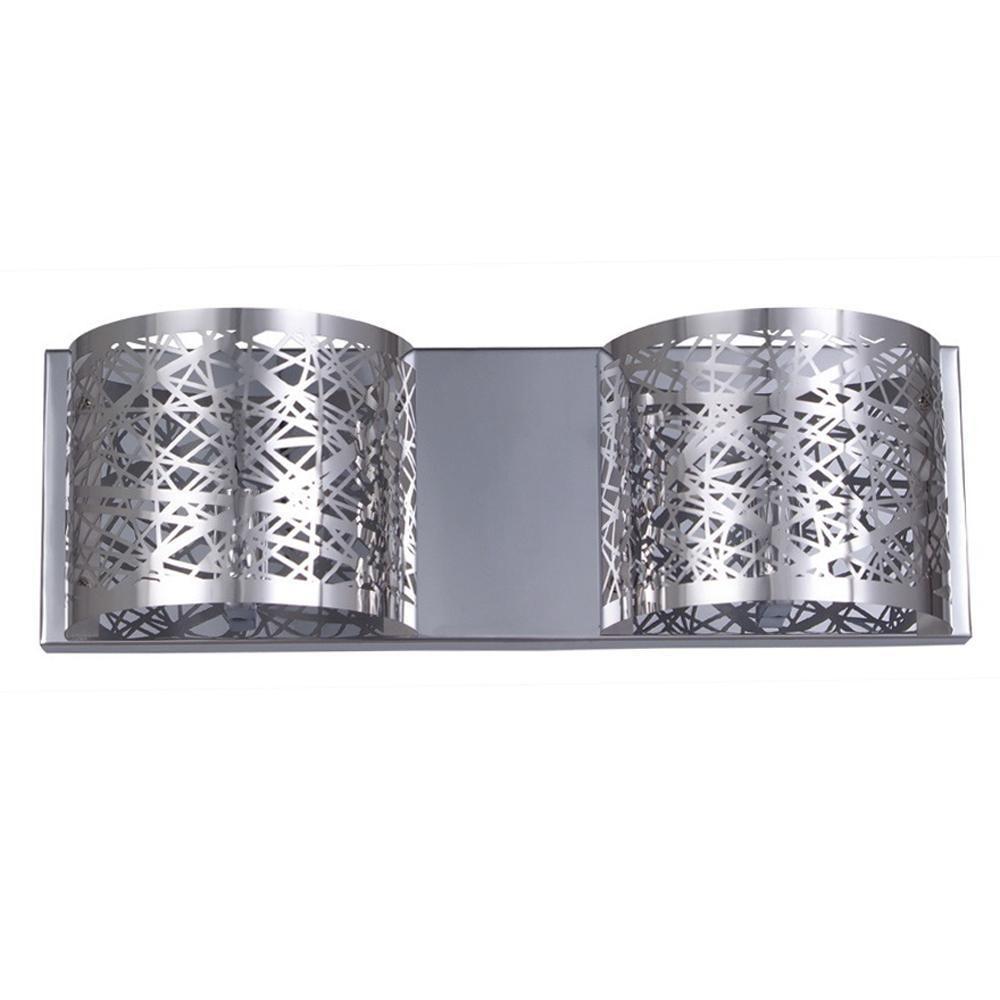 Halogen Vanity Light Bulbs : Filament Design Negron 2-Light Chrome Halogen Bath Vanity Light-CLI-XY5254048 - The Home Depot