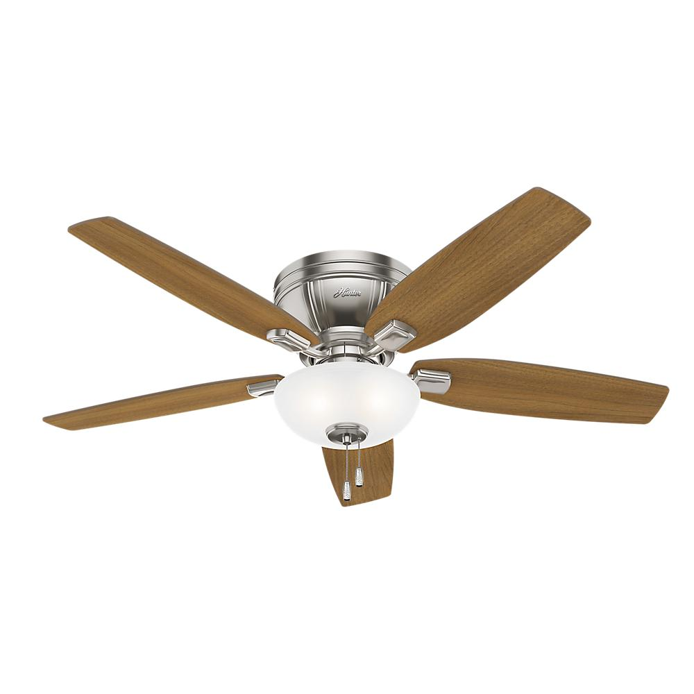 Hunter Low Profile 52 Led Ceiling Fan At Menards: Hunter Low Profile IV 52 In. LED Indoor Antique Pewter