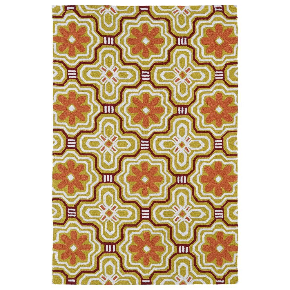 Kaleen Matira Gold 5 ft. x 7 ft. 6 in. Indoor/Outdoor Area Rug