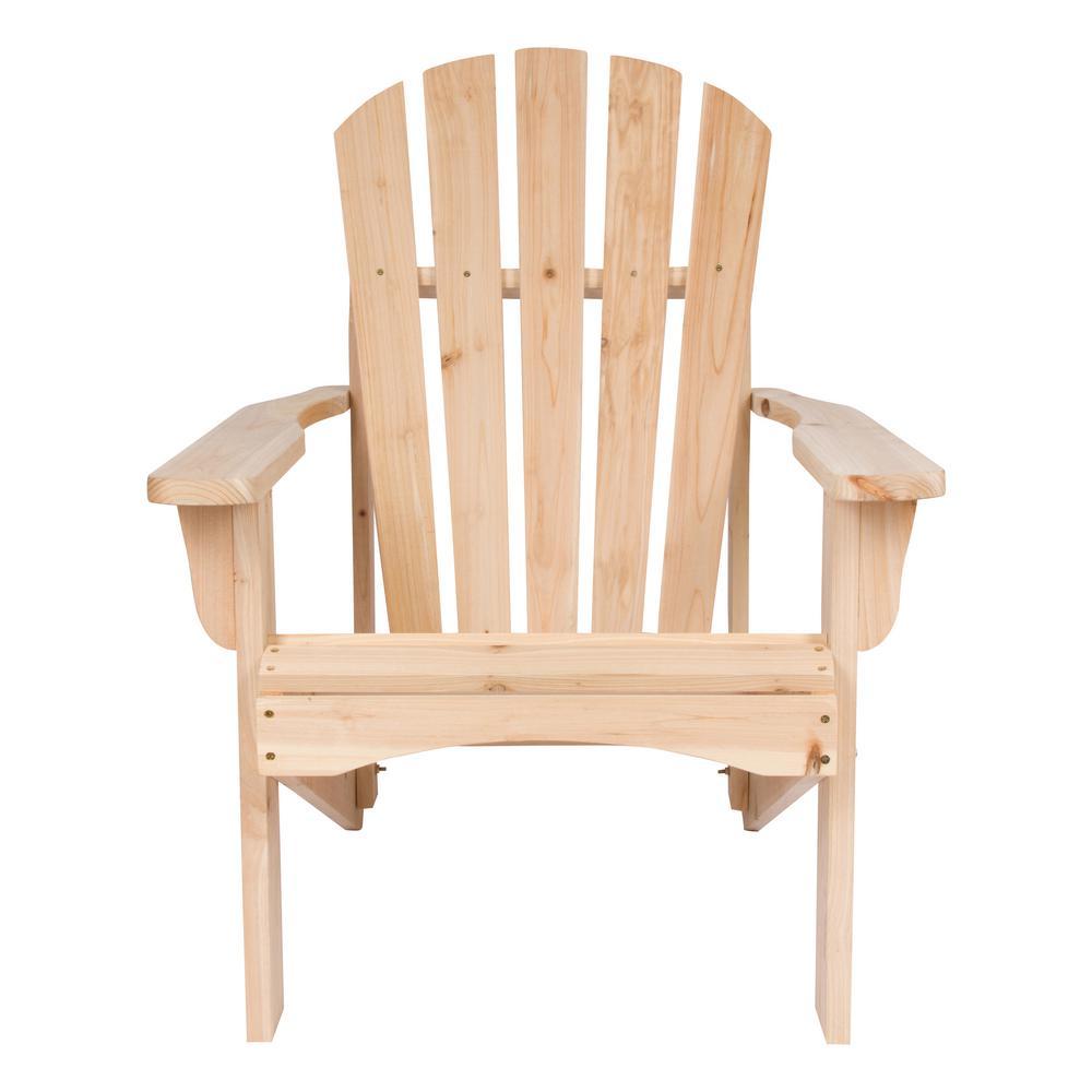 Shine Company Rockport Natural Cedar Wood Adirondack Chair
