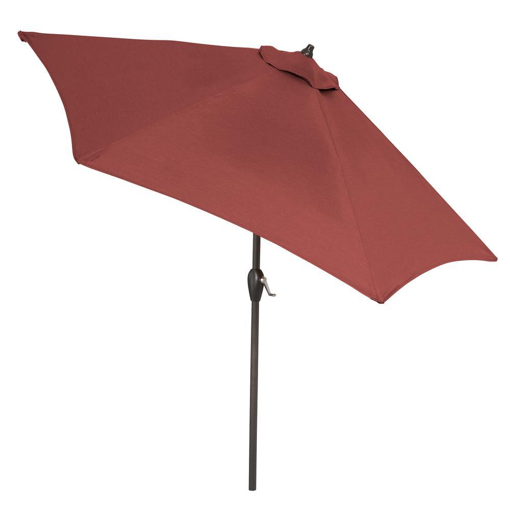 9 ft. Aluminum Market Tilt Patio Umbrella in CushionGuard Aubergine